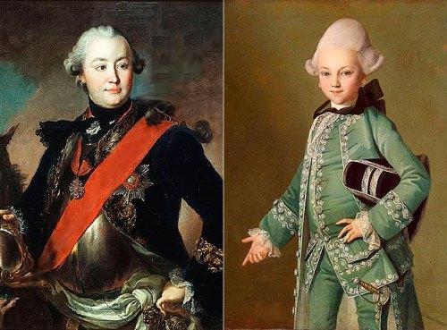 Grigory Orlov and his son Alexei Bobrinsky
