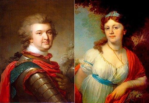 Grigory Potemkin and his daughter Elizaveta Temkina
