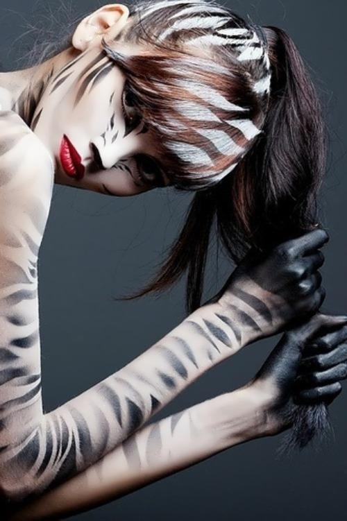 Creative make-up by Siberian girl – O. Pristash