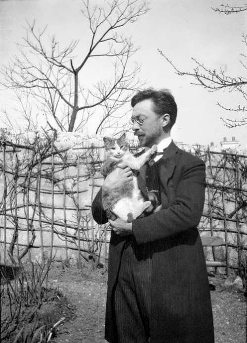 Kandinsky and his cat Vaska