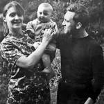 Happy family - Lyudmila Abramova, Vladimir and their son