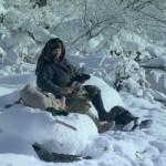 Agafia Lykova in winter
