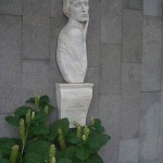 Beautiful Akhmatova memorial in Odessa
