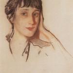 A. Akhmatova, picture