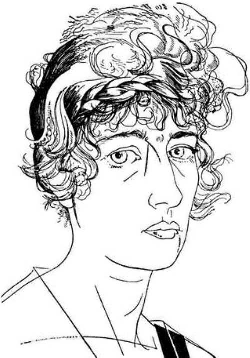 Annenkov. O. Glebova-Sudeikina, 1921
