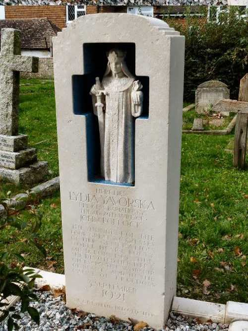 Grave of Lydia Yavorskaya in London