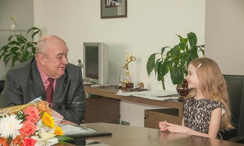 Diana and mayor of Novokuznetsk Valery Smolego