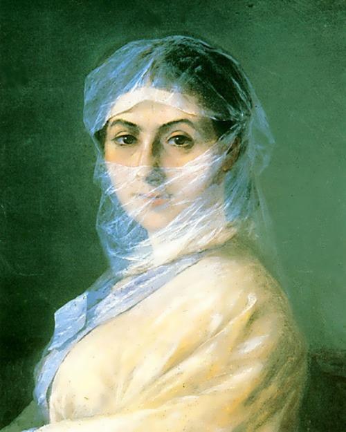 Aivazovsky's wife - Anna Burnazyan. 1882