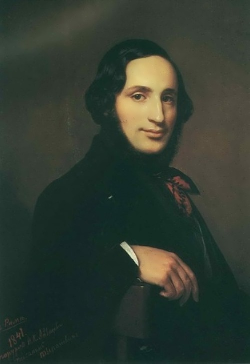 Alexei Tyranov - portrait of the artist I.K.Aivazovsky