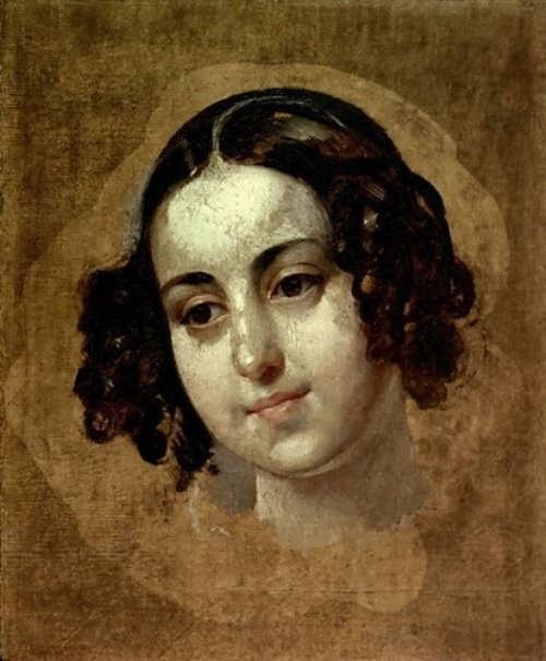 bryullov Girl's head. 1830