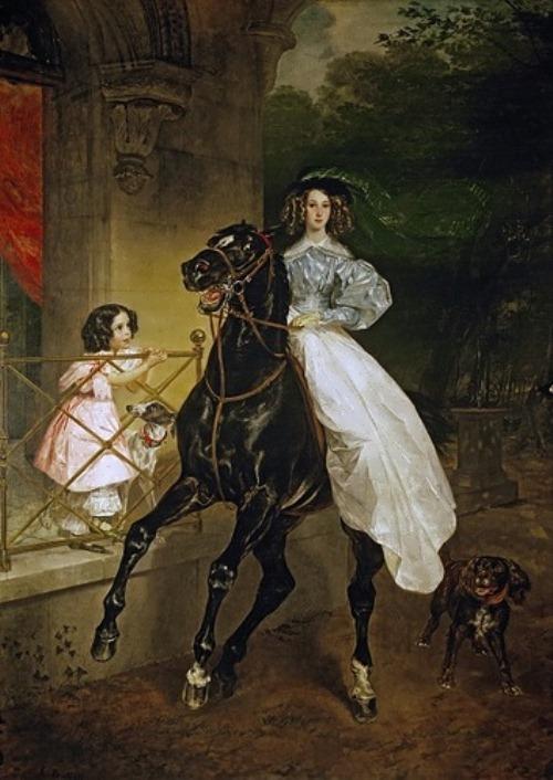 bryullov Lady on Horseback. 1832