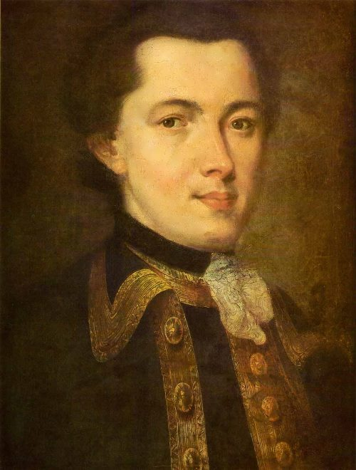 rokotov Portrait of unknown man in Guards uniform
