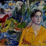 Burliuk. Portrait of Lilya. 1956