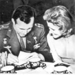 Lida Skoblikova and Yuri Gagarin