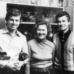 Lida Skoblikova, her son and husband