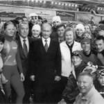 Skoblikova with Vladimir Putin and Nursultan Nazarbayev