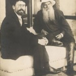 Anton Chekhov, Russian writer, with Tolstoy