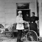 Tolstoy on a bike