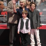 Mirren and her husband Taylor Hackford and grandchildren