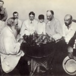 Tolstoy playing chess with M.S. Sukhotin