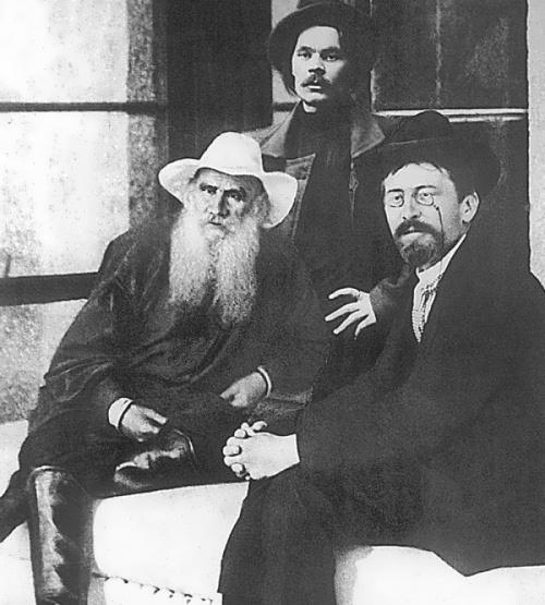Tolstoy , Maxim Gorky and Anton Chekhov