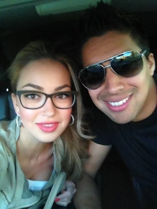 Christian Noboa and his Russian wife