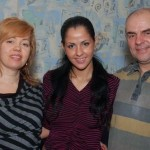 Berkova and her parents