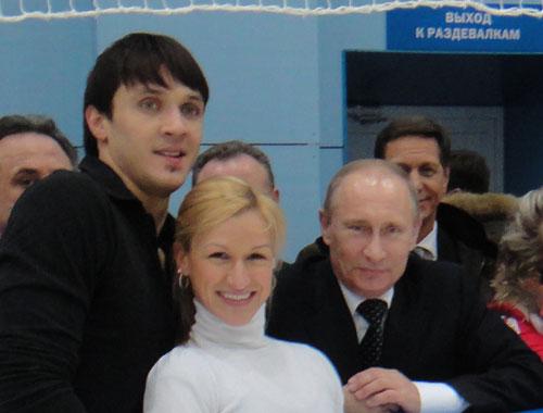 Maxim, Tatiana and Vladimir Putin
