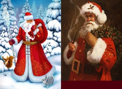 Ded moroz vs santa claus russian personalities
