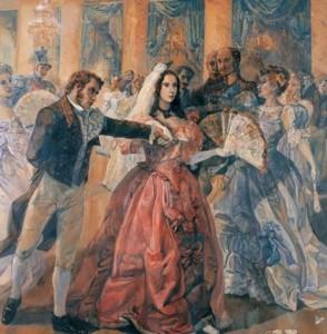 Pushkin and Natalie. S. Gulyaev