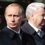 Putin and Yeltsin. Moscow, 2000