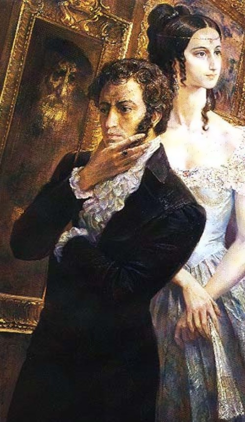 Alexander Pushkin and Natalia Goncharova