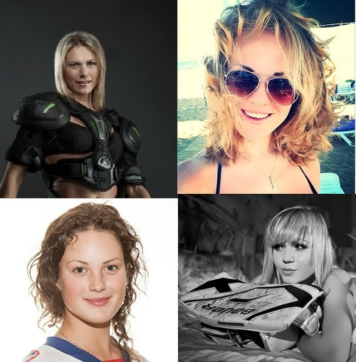 Beautiful Russian ice hockey players