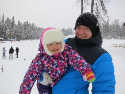 Smyshlyaev and his daughter