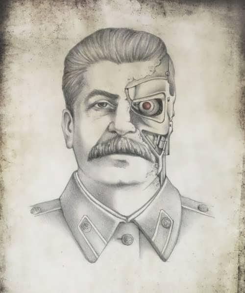Joseph Stalin as Terminator