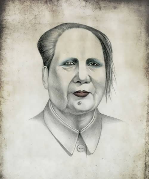 Mao Zedong as Marilyn Manson