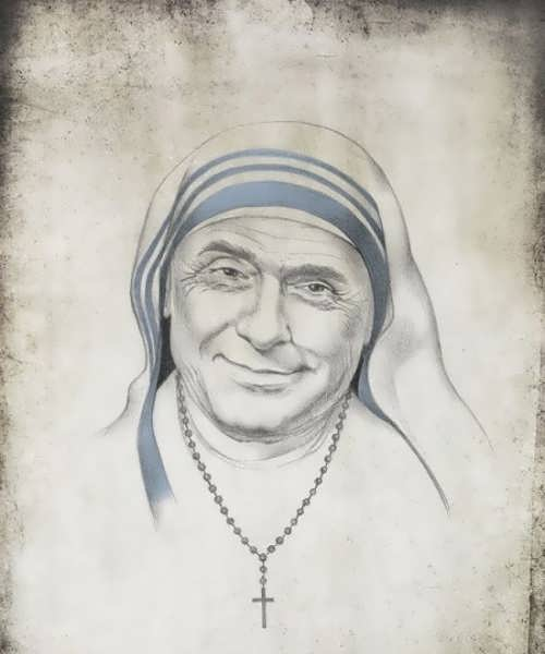 Silvio Berlusconi as Mother Teresa