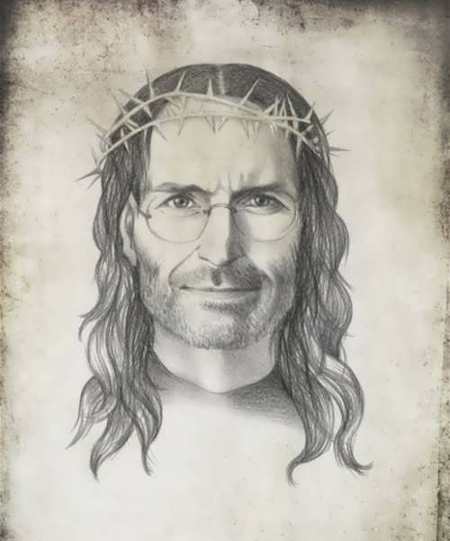Steve Jobs as Jesus Christ