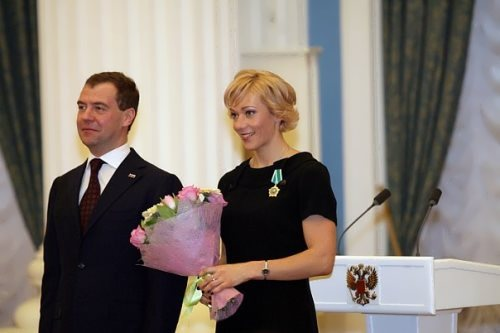 Olga Zaitseva and Dmitry Medvedev