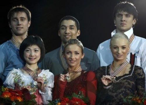 Alexander Smirnov and Yuko Kawaguchi, Alena Savchenko and Robin Szolkowy, Maxim Trankov and Tatiana Volosozhar