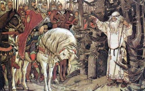 V.M. Vasnetsov. Prince Oleg and the Magi. Death Prophecy.