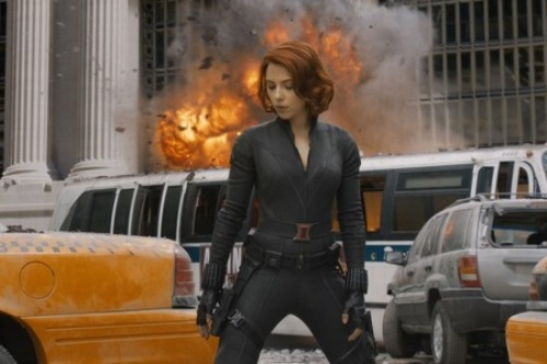 Hollywood stars played Russians. Scarlett Johansson The Avengers