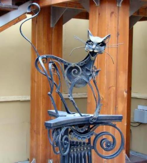 Monument to iron cunning cat, Yekaterinburg, Sverdlovsk Oblast