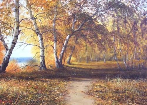 Wonderful painting on glass by E. Kolesnikova