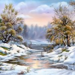 The beauty of the winter by talented artist V. Tsyganov