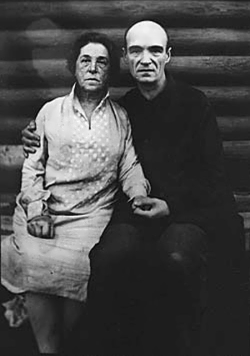 Filonov with his wife
