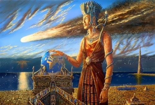 Wrath of the Gods by Russian artist V. Ivanov