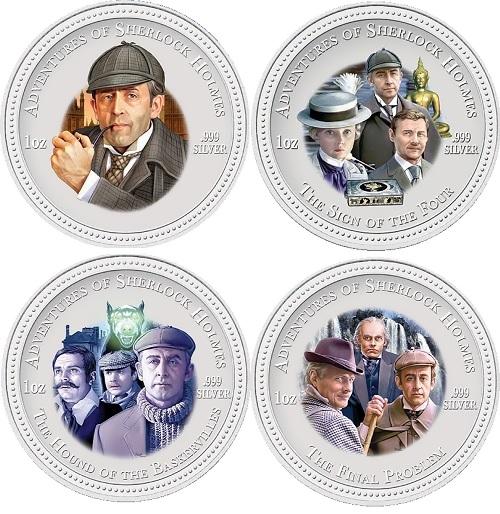 Sherlock Holmes New Zealand coins