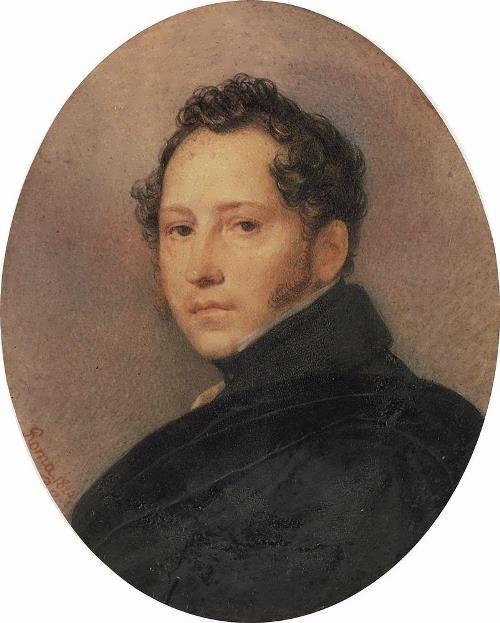 K. P. Bryullov. Portrait of S. F. Shchedrin