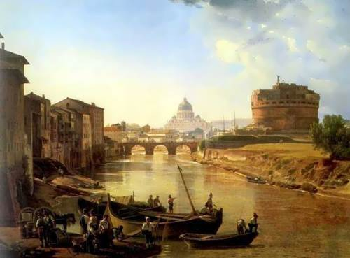 New Rome. Castel Sant Angelo. 1823